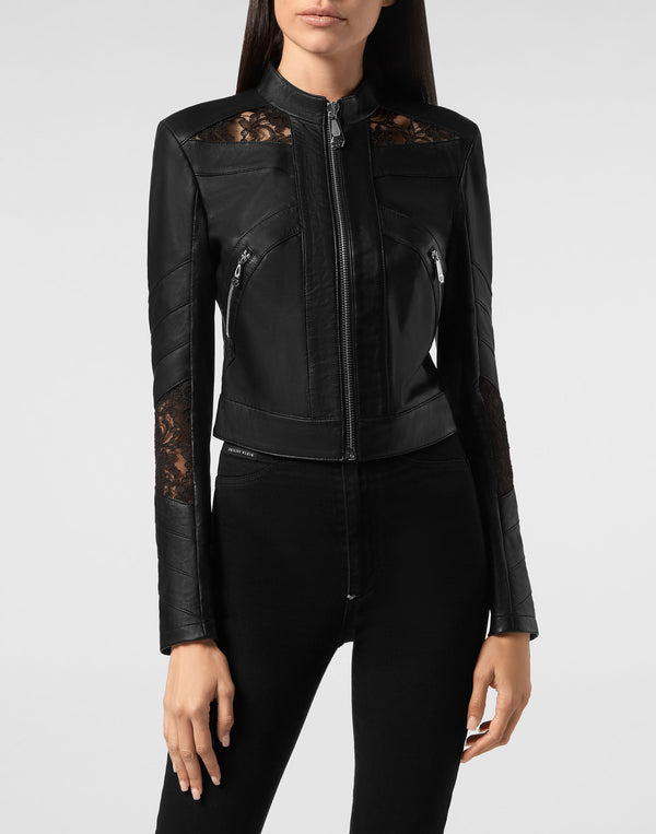 Leather Jacket Lace