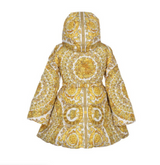 White and Gold Baroque Coat