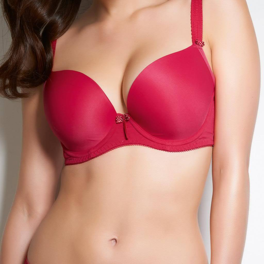 Freya Deco U/W Plunge Moulded Balcony Bra, Red