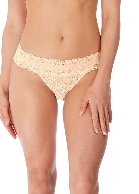 Wacoal Halo Lace Thong, Nude