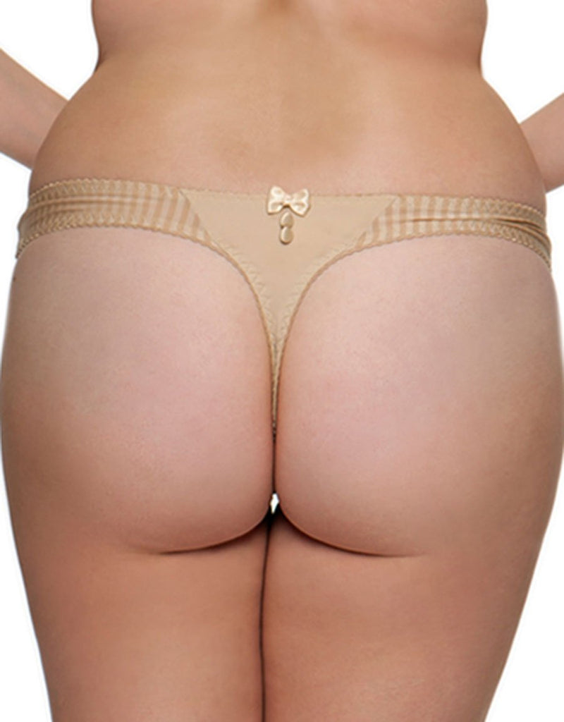 Curvy Kate Luxe Thong, Biscotti