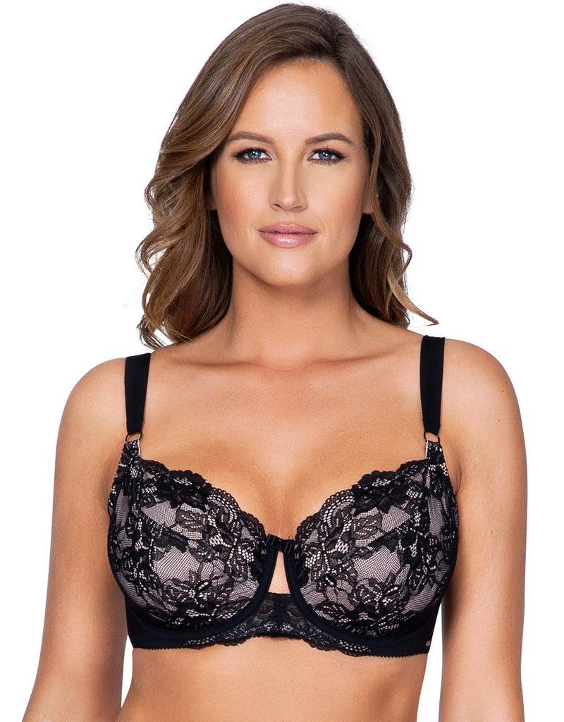 Parfait by Affinitas Marion Unlined Wire Bra, Black