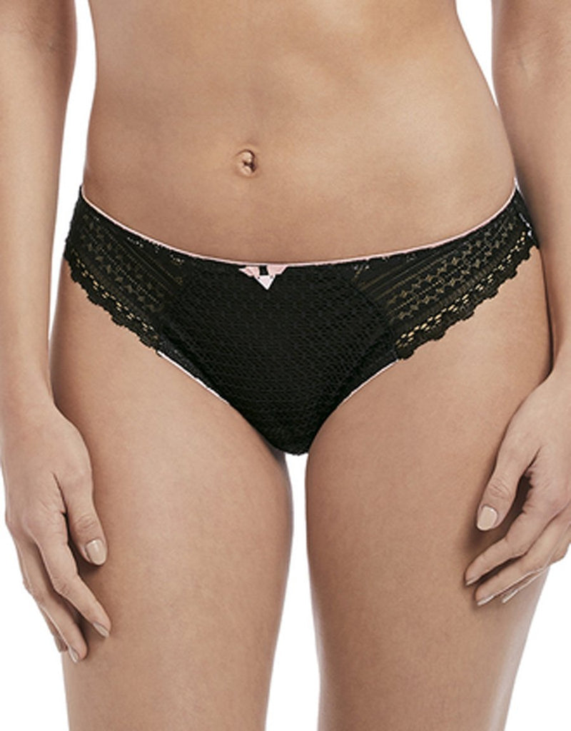 Freya Daisy Lace Brief, Noir