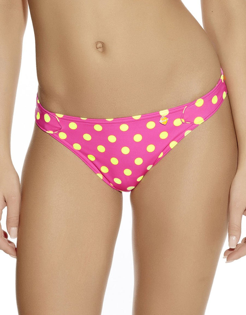 Freya Bon Bon Rio Tab Side Brief, Bright Pink
