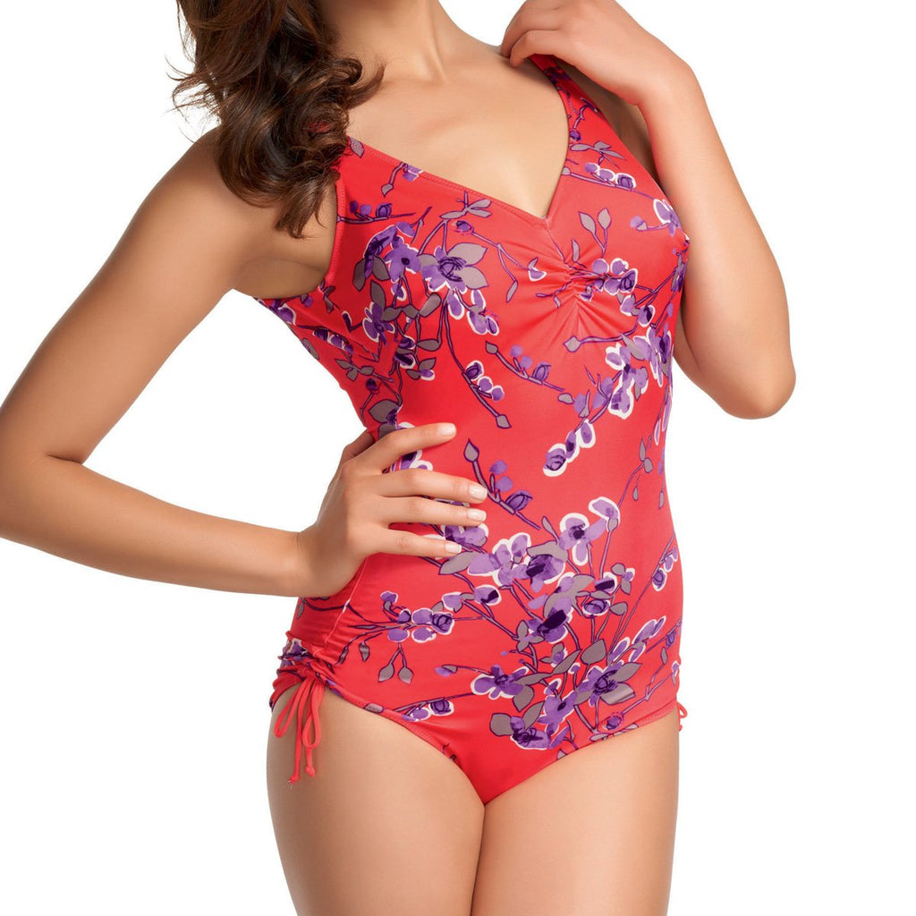 Fantasie Kyoto Underwired V Neck Suit with Adjustable Leg, Lotus Blossom