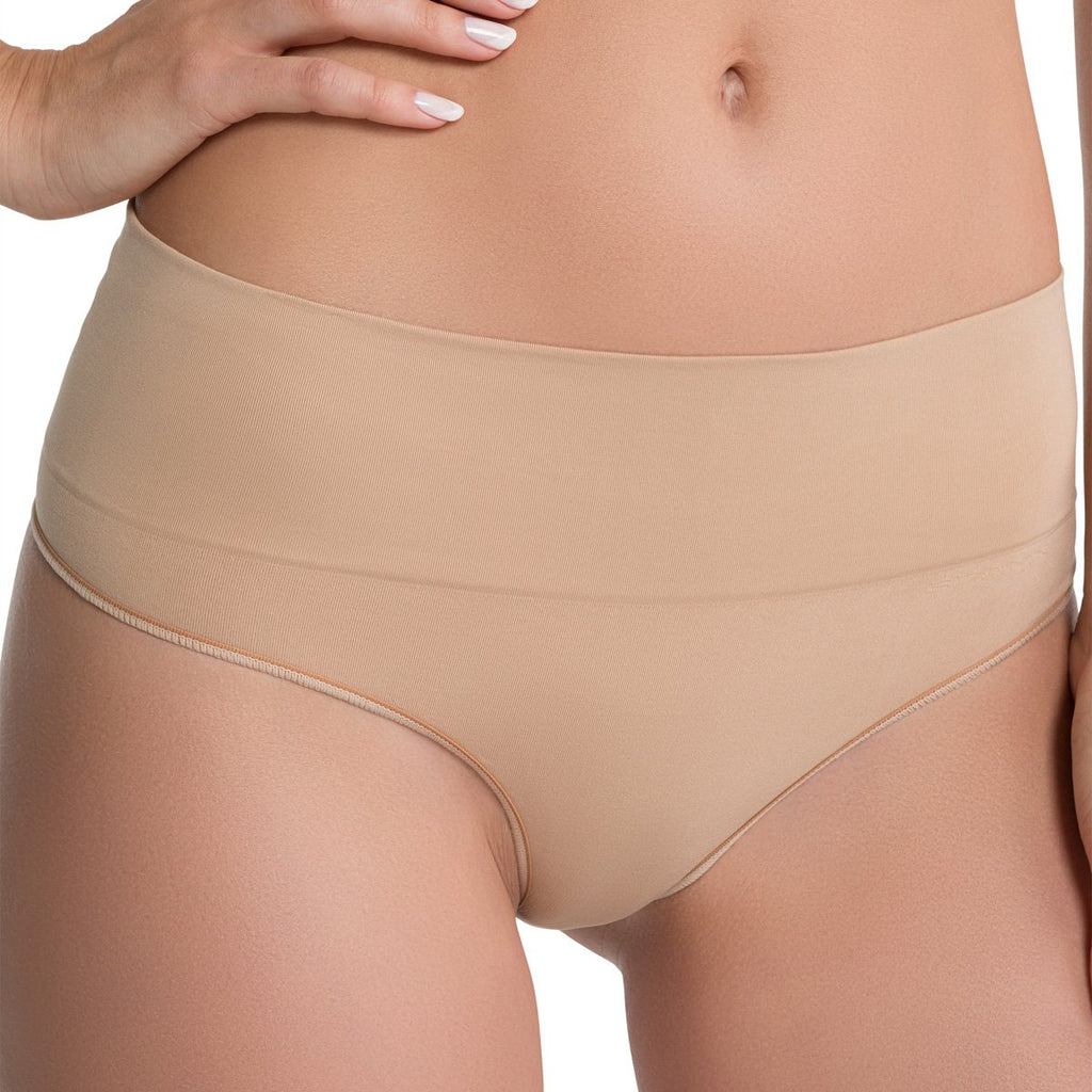 Spanx Everyday Shaping Panties Thong, Soft Nude
