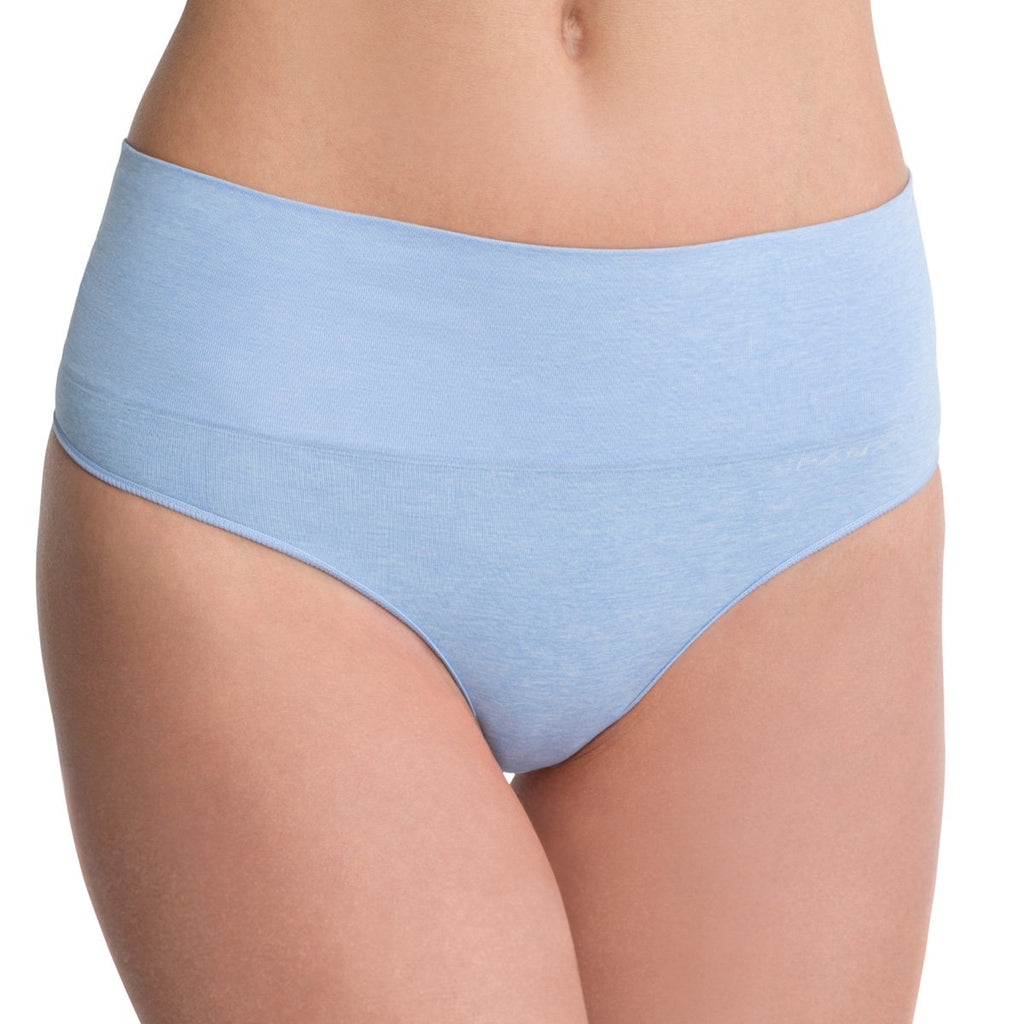Spanx Everyday Shaping Panties Thong, Heathered Powder Blue