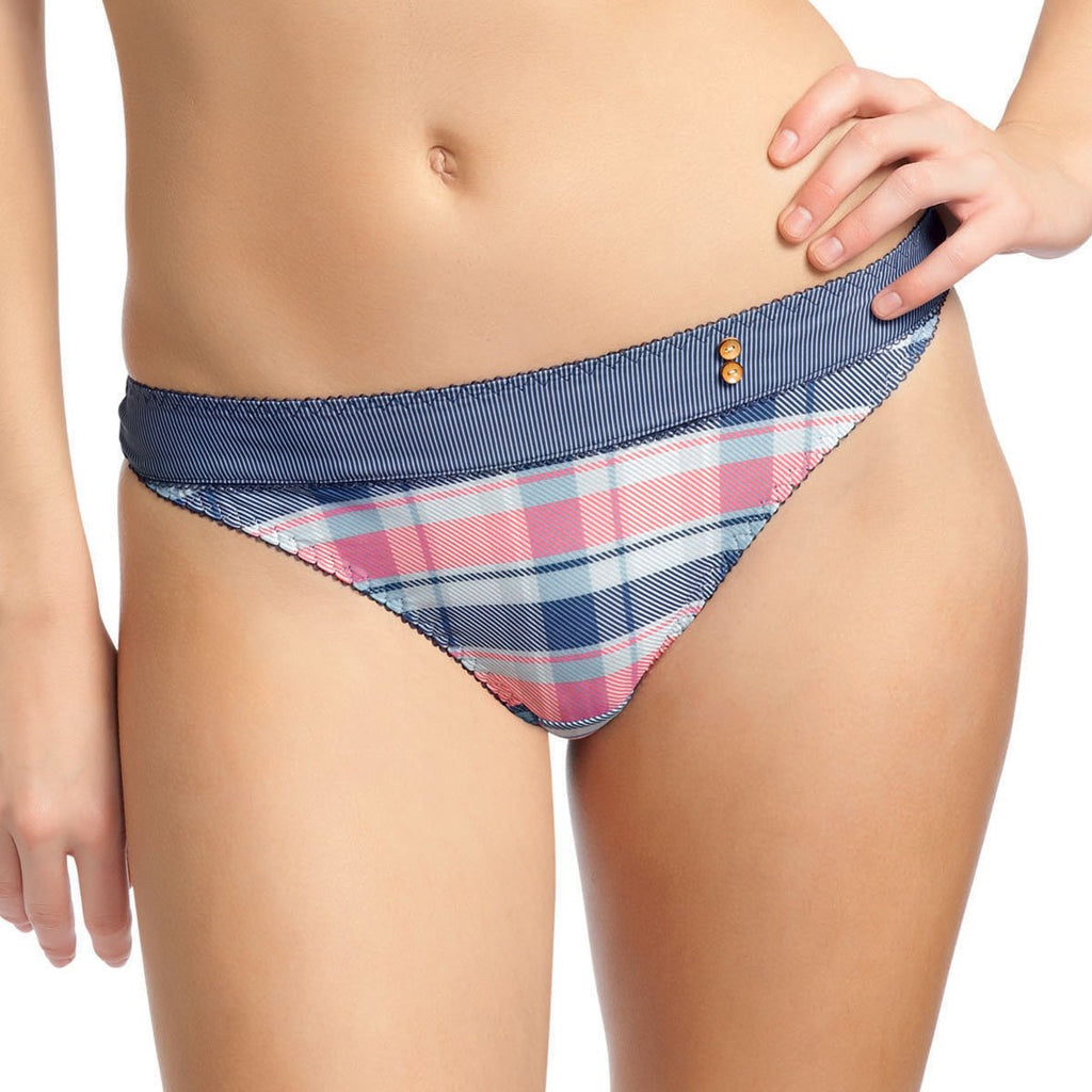 Freya Totally Tartan Thong, Denim