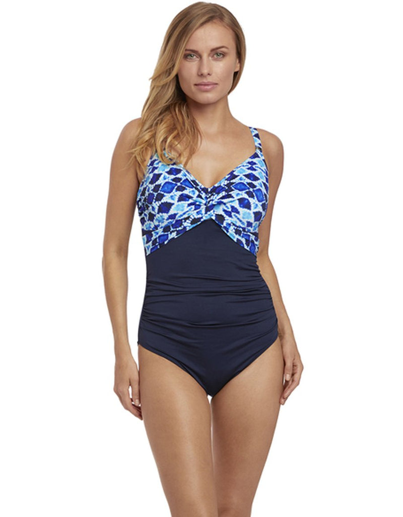 Fantasie Tuscany Underwire Twist Front Swimsuit, Ink
