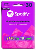Spotify Premium Annual Gift Card (3 Months)