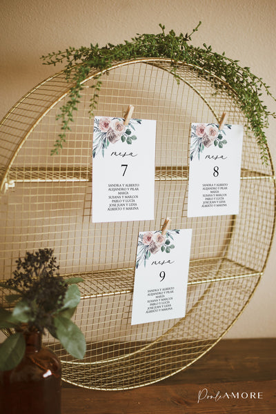 Seating Plan Boho Floral - Ponle Amore