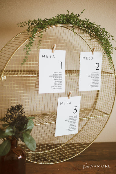 Seating Plan Minimalista - Ponle Amore
