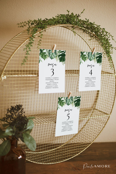 Seating Plan Tropical - Ponle Amore