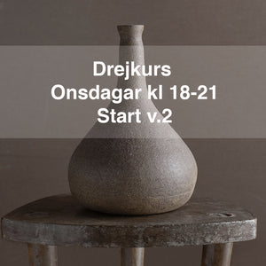 Drejkurs: Onsdagar kl.18-21. Start 13 jan