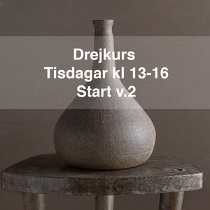 Drejkurs: Tisdagar kl.13-16. Start 12 jan