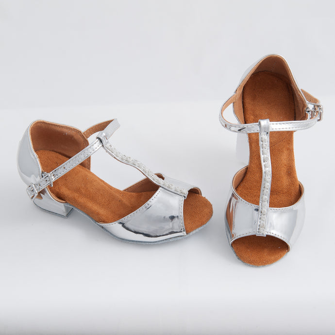 Low Heel Ballroom/Latin Shoes - Chrome
