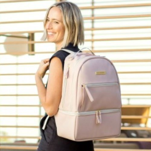 Petunia Pickle Bottom Pañalera Axis Backpack Rosa