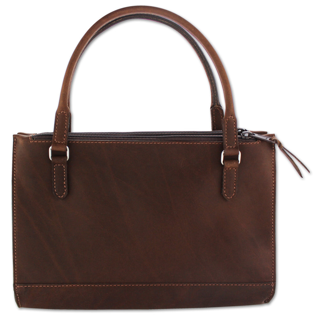 Brown Leather Shoulder Handbag