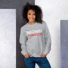 "Load image into Gallery viewer, Classic Logo ""Brown Ambition"" Unisex Sweatshirt"
