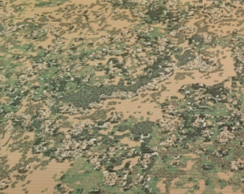 Green and beige camo pattern