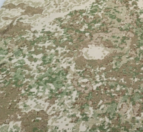 Green, white and brown camo pattern