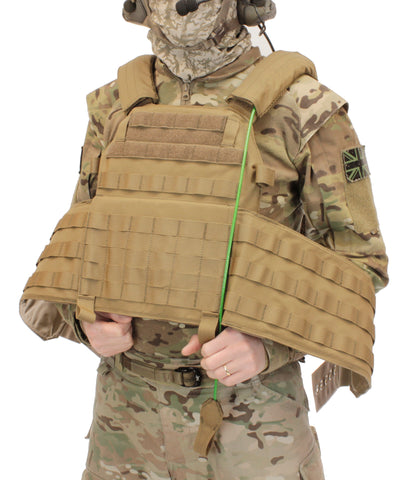 Warrior Assault System DCS Plate Carrier QRS Coyote open