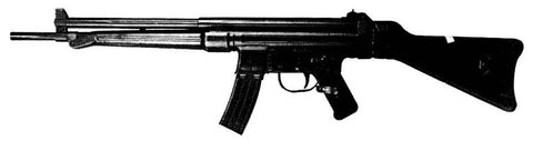 Black and white photo of the HK G3 in the 1950's