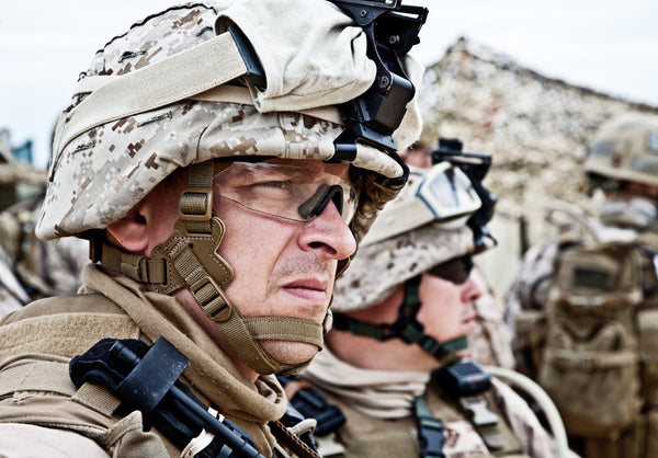US Marine with MICH Combat Helmet