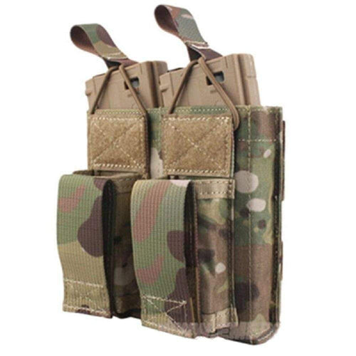 Emersongear Tactical Double M4 5.56mm + 9mm Molle Mag Pouch - CHK-SHIELD | Outdoor Army - Tactical Gear Shop