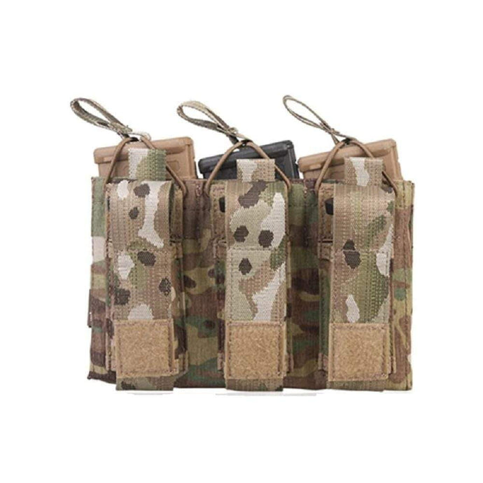 Emersongear Tactical Triple M4 5.56mm + 9mm Molle Mag Pouch - CHK-SHIELD | Outdoor Army - Tactical Gear Shop