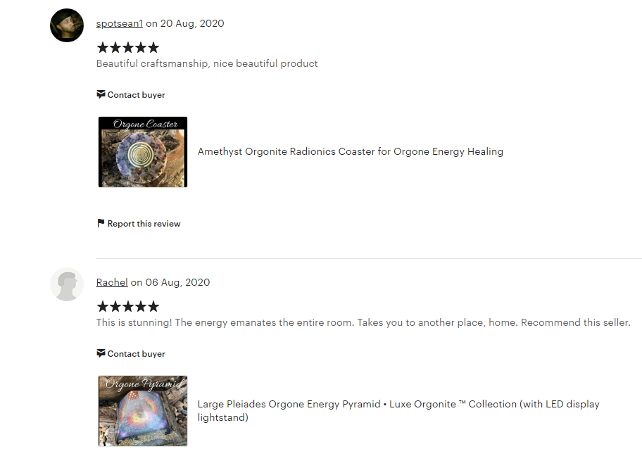 Orgone Energy Product Reviews
