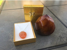 Load image into Gallery viewer, Carnelian Flame & Pendant Set for Sacral Chakra Healing