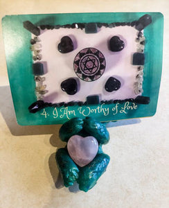 Orgone Energy Crystal & Oracle Card Holder • Tarot Card Stand • Dragon Orgone Energy Accumulator • Orgonite Generator