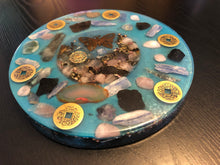 Load image into Gallery viewer, EMF Protection Xtra-Large Orgonite ™ Charging Plate & Chakra Oracle Cards • 5G Protection Orgone Energy Generator • Feng Shui Cure