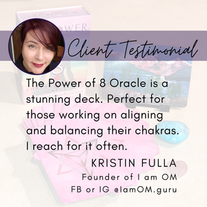The Power of 8 Chakra Oracle Cards • Energy Healing Oracle Card Deck • Reiki Cards