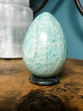 "Load image into Gallery viewer, Amazonite Energy Healing Crystal: 3"" Yoni Egg • Gemstone Energy Healing"