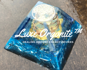 Custom Chakra Orgone Energy Pyramid ✨ Glow in the Dark Zen Orgonite Pyramid