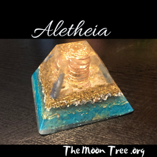 Load image into Gallery viewer, Custom Chakra Orgone Energy Pyramid ✨ Glow in the Dark Zen Orgonite Pyramid