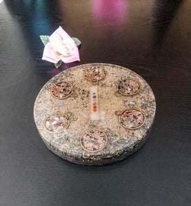 Chakra Orgonite Plate: Luxe Orgone Energy Charging Collection • Reiki Tools