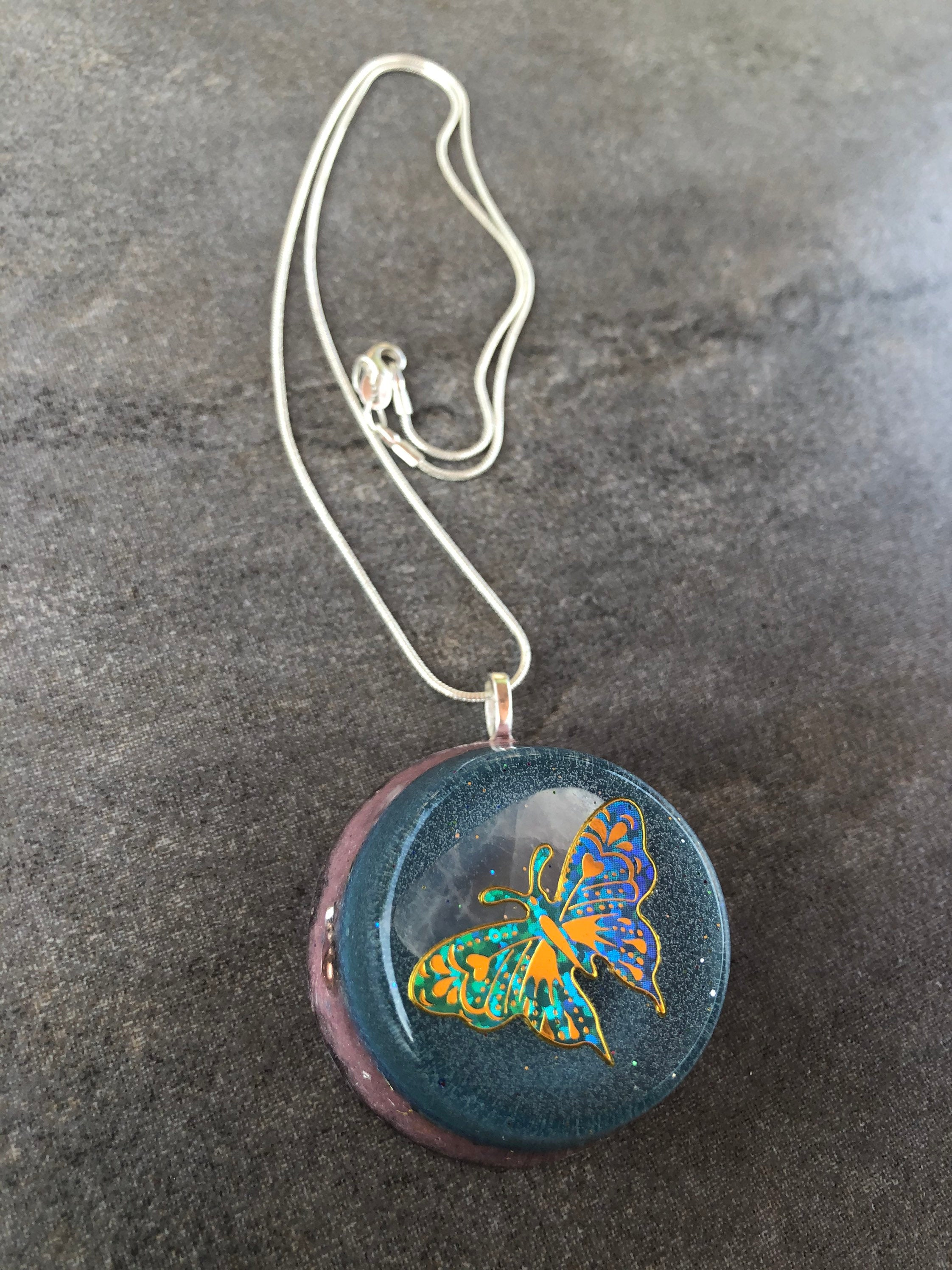 Ascension Orgonite Pendant: Orgone Energy Amulet for Transformation