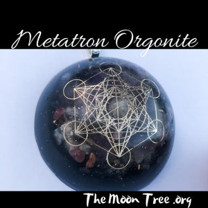 Amethyst Orgonite ™ Pendant with Adjustable Cord • Metatron's Cube Pendant • Powerful Orgone Energy Pendent
