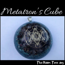 Load image into Gallery viewer, Metatron's Cube Orgonite ™ Pendant: Powerful Orgone Energy • Glows in the Dark • Chakra Energy Healing Reiki Tool