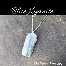 Load image into Gallery viewer, Blue Kyanite Pendant Necklace