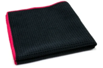 Waffle-Weave Window and Glass Microfiber Cleaning Towel 400 gsm, 16 in. x 16 in.