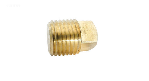 Brass Square Head Plug - 1/4 Inch MPT - 28085