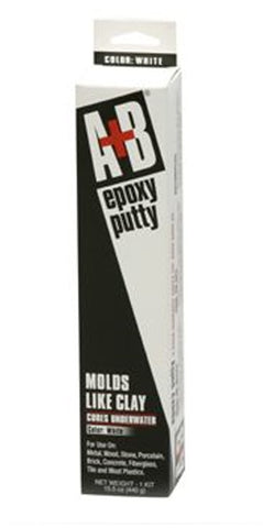 A & B Epoxy Putty 15.5 Oz White - 9904K