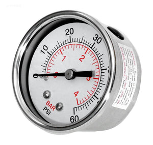 Pool Pump Water Pressure Gauge - 830-4000SS-B