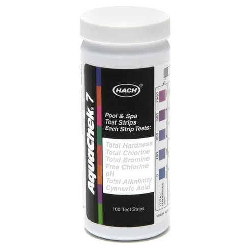 Aquachek Silver 7 Way Pool Water Test Strips - 551236
