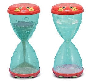 Melissa & Doug Clicker Crab Hourglass Sand & Beach Funnel Toy 6409