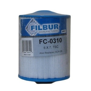 Filbur FC-0310 Pool & Spa Filter Cartridge - 6CH-26, PTL25W-SV-P-4, Aladdin 12521